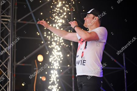 Stock Picture of Marc Martel Live Queen show at Vittoriosa Waterfront in Rock the Fort Concert