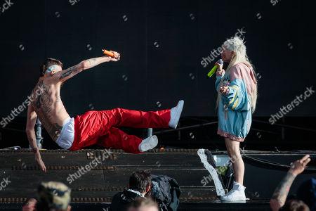 Stock Picture of Die Antwoord - Watkin Tudor Jones and Yolandi Visser