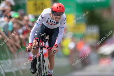 Rui Costa from Portugal of UAE Team Emirates during the 1th stage, a 9.5 km time trial in Langnau i. E. , Switzerland, at the 83st Tour de Suisse UCI WorldTour cycling race, on Saturday, June 15, 2019.