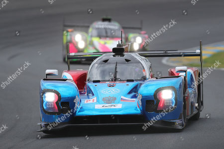 The BR Engineering No11 of the SMP Racing Team driven by Vitaly Petrov of Russia, Mikhail Aleshin of Russia and Stoffel Vandoorne of Belgium in action during the 87th 24-hour Le Mans endurance race, in Le Mans, western France