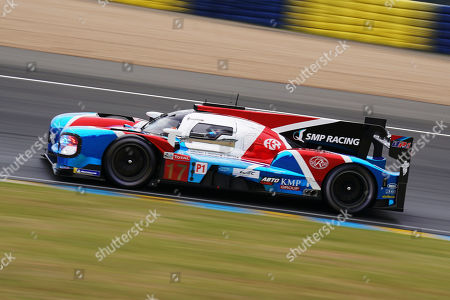 Stock Photo of SMP Racing (starting no.17) in a BR engineering BR1 AER with Stephane Sarrazin of France, Egor Orudzhev of Russia and Sergey Sirotkin of Russia in action during the Le Mans 24 Hours race in Le Mans, France, 15 June 2019.  The race is scheduled to finish at 3pm on the 16 June.