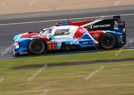 SMP Racing (starting no.11) in a BR engineering BR1 AER with Vitaly Petrov of Russia, Mikhail Aleshin of Russia and Stoffel Vandoorne of Belgium in action during the Le Mans 24 Hours race in Le Mans, France, 15 June 2019.  The race is scheduled to finish at 3pm on the 16 June.