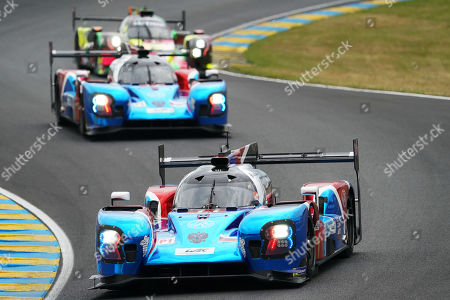 Stock Picture of SMP Racing (starting no.11) in a BR engineering BR1 AER with Vitaly Petrov of Russia, Mikhail Aleshin of Russia and Stoffel Vandoorne of Belgium in action during the Le Mans 24 Hours race in Le Mans, France, 15 June 2019. The race is scheduled to finish at 3pm on the 16 June.