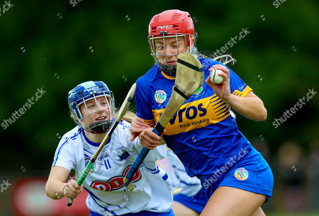 Tipperary vs Waterford. Tipperary's Karen Kennedy with Annie Fitzgerald of Waterford