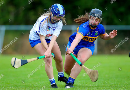 Tipperary vs Waterford. Tipperary's Julieanne Burke with Annie Fitzgerald of Waterford
