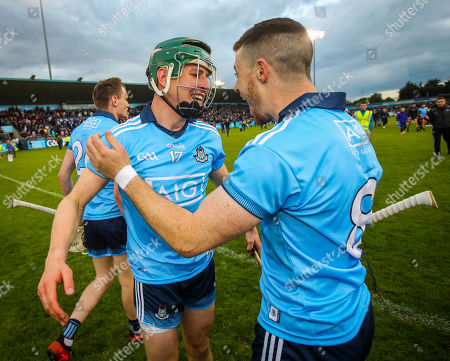 Dublin vs Galway . Dublin's Sean Treacy and James Madden celebrate after the game