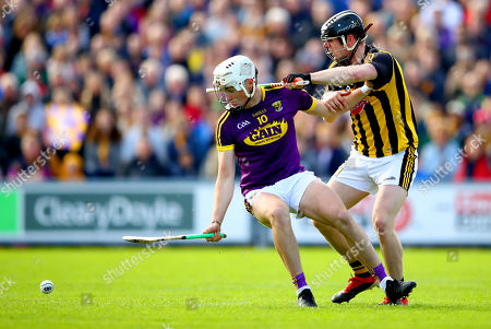 Wexford vs Kilkenny. Wexford's Rory O'Connor and Enda Morrissey of Kilkenny