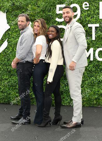 Jeremy Sisto, Missy Peregrym, Ebonee Noel and Zeeko Zaki attend photocall for the TV show 'FBI'