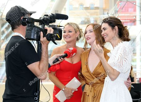 Amelia Heinle, Sharon Case and Camryn Grimes attends photocall for the TV show 'The Young and the Restless'