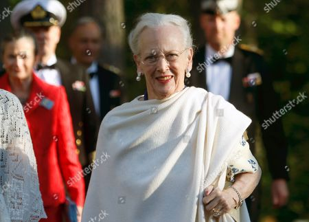 Stock Picture of Queen Margrethe II of Denmark arrives for a gala dinner at the Arvo Part Center in Laulasmaa, Estonia, 15 June 2019. Queen Margrethe II of Denmark visits Tallinn from 15 to 16 June to take part in celebrations of the 800th anniversary of the Danish flag, the 135th anniversary of the Estonian flag, Estonia's centennial as well as Estonian-Danish relations.