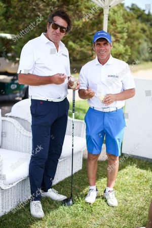 Gianfranco Zola (right) (winner of the Costa Smeralda Invitational golf tournament)
