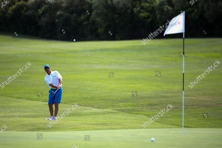 Stock Picture of Gianfranco Zola (winner of the Costa Smeralda Invitational golf tournament)