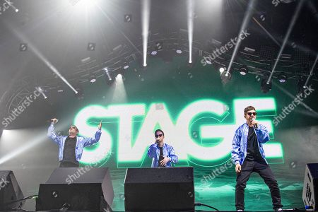 Andy Samberg, Akiva Schaffer, Jorma Taccone. Andy Samberg, from left, Akiva Schaffer, and Jorma Taccone of The Lonely Island performs at the Bonnaroo Music and Arts Festival, in Manchester, Tenn