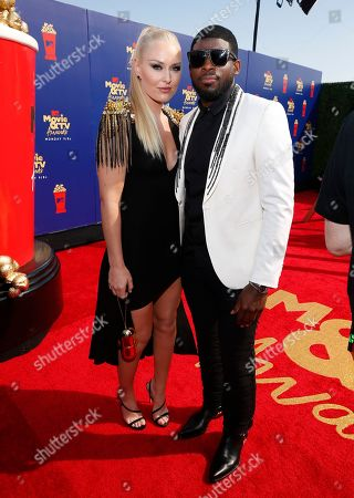 Lindsey Vonn, P. K. Subban. Lindsey Vonn, left, and P. K. Subban arrive at the MTV Movie and TV Awards, at the Barker Hangar in Santa Monica, Calif