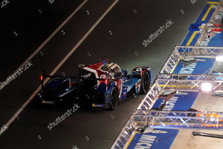 Stock Image of SMP Racing (starting no.11) in a BR engineering BR1 AER with Vitaly Petrov of Russia, Mikhail Aleshin of Russia and Stoffel Vandoorne of Belgium in action at night during the Le Mans 24 Hours race in Le Mans, France, 15 June 2019. The race is scheduled to finish at 3pm local time on 16 June.