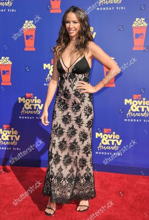 Stock Image of Kristen Doute arrives at the MTV Movie and TV Awards, at the Barker Hangar in Santa Monica, Calif