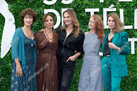 Stock Picture of Chrystelle Labaude, Emma Colberti, Melanie Maudran, Melanie Robert and Valerie Kaprisky