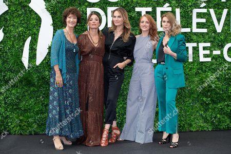 Chrystelle Labaude, Emma Colberti, Melanie Maudran, Melanie Robert and Valerie Kaprisky