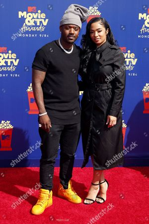 Ray J and Princess arrive for the 2019 MTV Movie & TV Awards at the Barker Hangar, Santa Monica, California, USA, 15 June 2019. The movies are nominated by producers and executives from MTV and the winners are chosen online by the general public.
