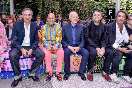 Stock Photo of Carlo Capasa, Santo Versace and guests