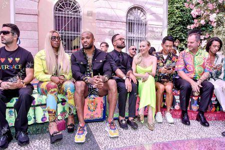 Kesha McLeod, PJ Tucker, Marina Majoie and guests