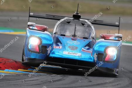 The BR Engineering No11 of the SMP Racing Team driven by Vitaly Petrov of Russia, Mikhail Aleshin of Russia and Stoffel Vandoorne of Belgium races during the 87th 24-hour Le Mans endurance race, in Le Mans, western France