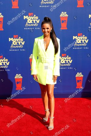 Stock Picture of Scheana Shay arrives for the 2019 MTV Movie & TV Awards at the Barker Hangar, Santa Monica, California, USA, 15 June 2019. The movies are nominated by producers and executives from MTV and the winners are chosen online by the general public.