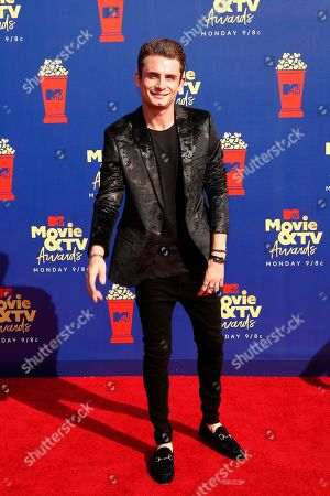 James Kennedy arrives for the 2019 MTV Movie & TV Awards at the Barker Hangar, Santa Monica, California, USA, 15 June 2019. The movies are nominated by producers and executives from MTV and the winners are chosen online by the general public.