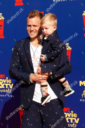Spencer Pratt arrives with his son Gunner Pratt (R) for the 2019 MTV Movie & TV Awards at the Barker Hangar, Santa Monica, California, USA, 15 June 2019. The movies are nominated by producers and executives from MTV and the winners are chosen online by the general public.