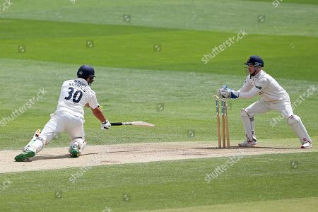 Adam Wheater of Essex effects the stumping of Rilee Rossouw from the bowling of Simon Harmer during Essex CCC vs Hampshire CCC, Specsavers County Championship Division 1 Cricket at The Cloudfm County Ground on 16th June 2019