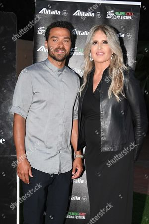 Tiziana Rocca and Jesse Williams