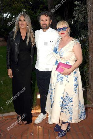 Tiziana Rocca, Carlo Cracco and Patricia Arquette