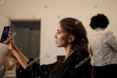 newest cf334 6f8f0 John Richmond show Backstage Milan Fashion Week Stock Photos ...