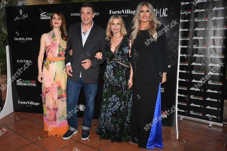 Paola Cortellesi, William Baldwin, Isabella Ferrari and Tiziana Rocca