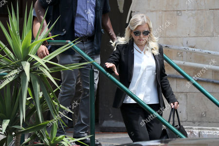 Sara Netanyahu, the wife of Israeli Prime Minister Benjamin Netanyahu, leaves the  Jerusalem's Magistrate Court, Israel, 16 June 2019. Sara Netanyahu attended a hearing on a plea deal over the misuse of state funds for meals at the premier's residence.