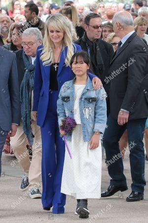 Jean-Luc Moudenc, Laeticia Hallyday and Joy Hallyday