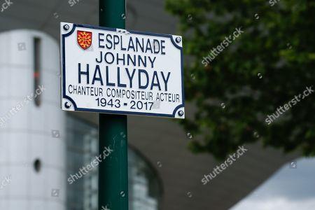 Johnny Hallyday Esplanade sign