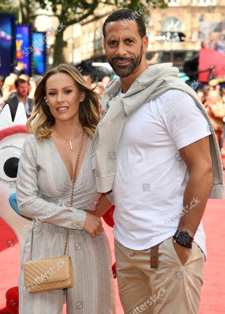Stock Image of Kate Wright and Rio Ferdinand