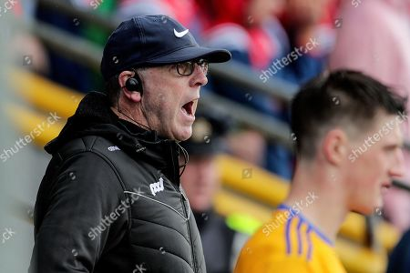 Clare vs Cork. Clare joint manager Gerry O'Connor watches the game from the stands