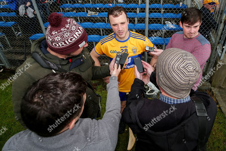 Clare vs Cork. Clare's Patrick O'Connor speaks to the media after the game