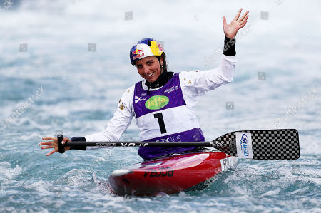 Editorial image of ICF Canoe Slalom World Cup 2019, Day Three, Canoeing, Lee Valley White Water Centre, London, UK - 16 Jun 2019