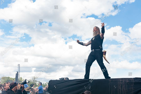 Stock Photo of Amon Amarth - Johan Hegg