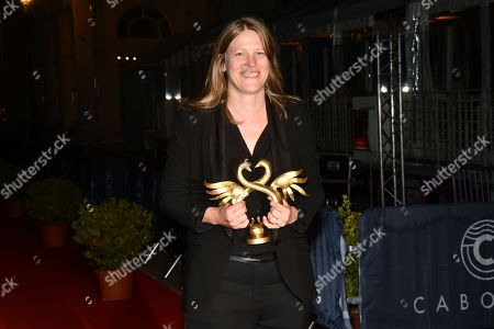Claire Burger poses with her award for Best Director