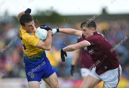 Galway vs Roscommon. Roscommon's Shane Killoran with John Daly of Galway