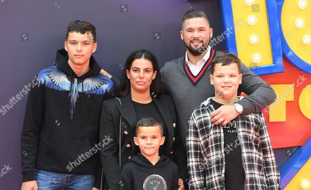 Tony Bellew (C-R) arrives with his family to the red carpet for the European premiere of 'Toy Story 4' in London, Britain, 16 June 2019. The computer-animated comedy is produced by Pixar Animation Studios for Walt Disney Pictures.