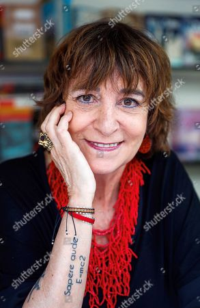 Spanish writer Rosa Montero poses at one of the stands of Madrid Book Fair at the Retiro park, in Madrid, Spain, 16 June 2019. The 78th edition ends today and have had more than 300 stands and 400 exhibitors.
