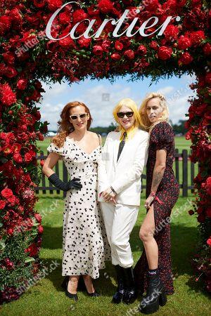 Charlotte Dellal, Pam Hogg and Alice Dellal