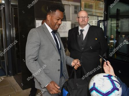 DJ Locksmith departs for the stadium before the Soccer Aid for Unicef match at the Chelsea Harbour Hotel.
