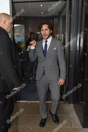 Jack Savoretti departs for the stadium before the Soccer Aid for Unicef match at the Chelsea Harbour Hotel.