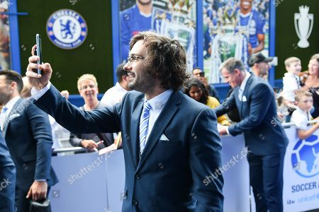 Joe Wicks arrives at the stadium before the Soccer Aid for Unicef match
